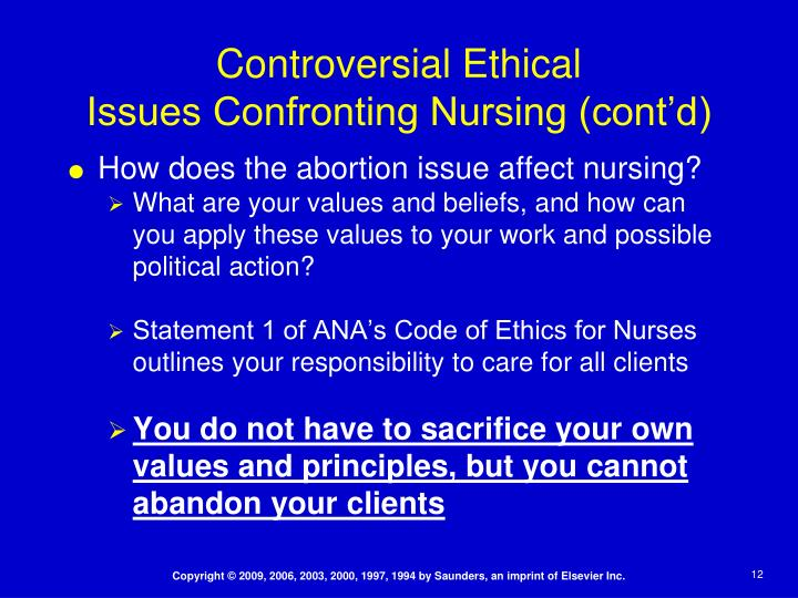 essay on ethical issues in nursing