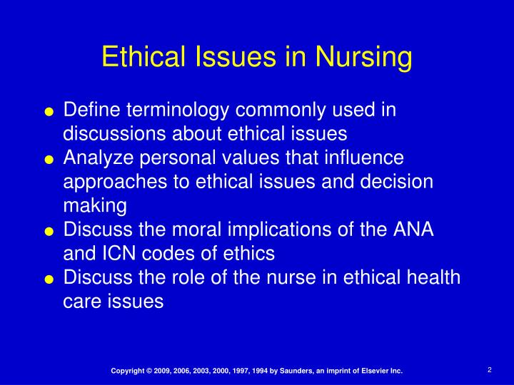 The function of ethical reasoning an ethical nursing dilemma