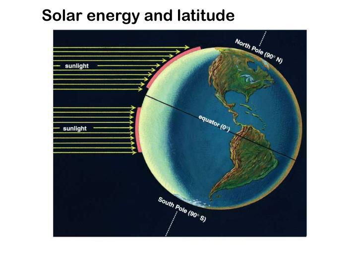 Solar energy and latitude