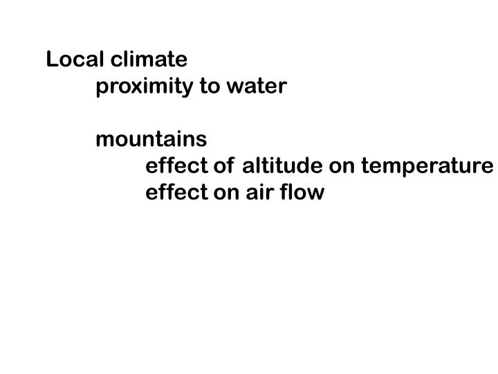 Local climate