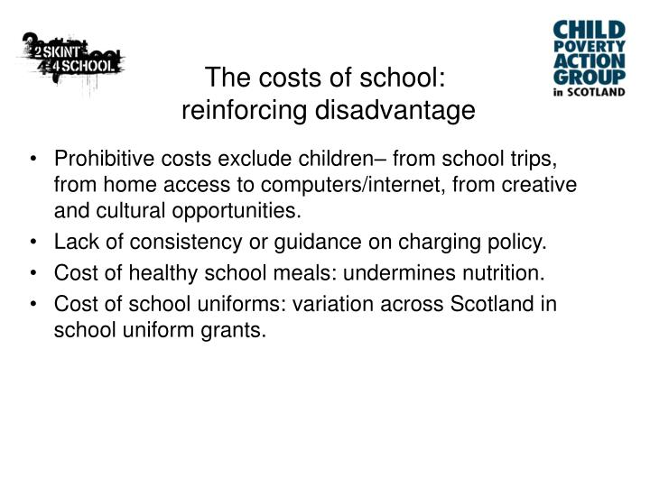 The costs of school: