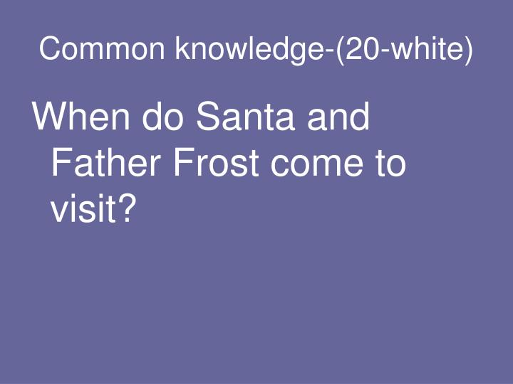 Common knowledge-(20-white)