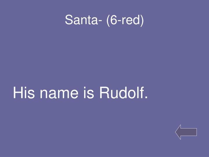 Santa- (6-red)