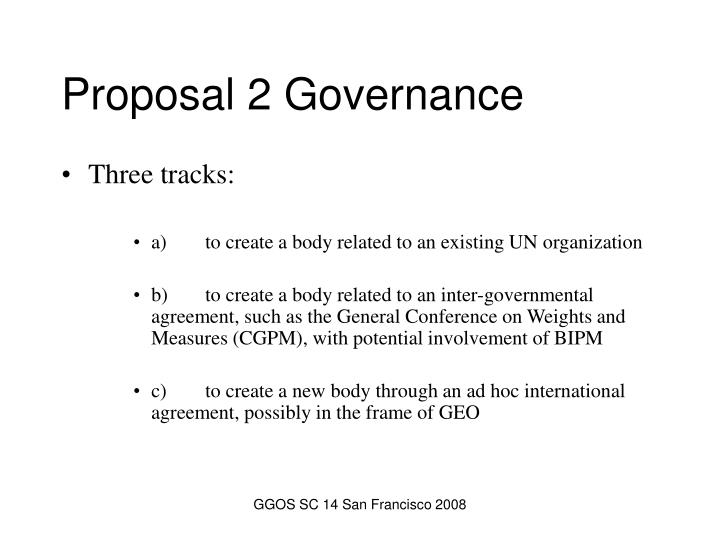 Proposal 2 Governance