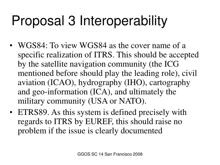 Proposal 3 Interoperability