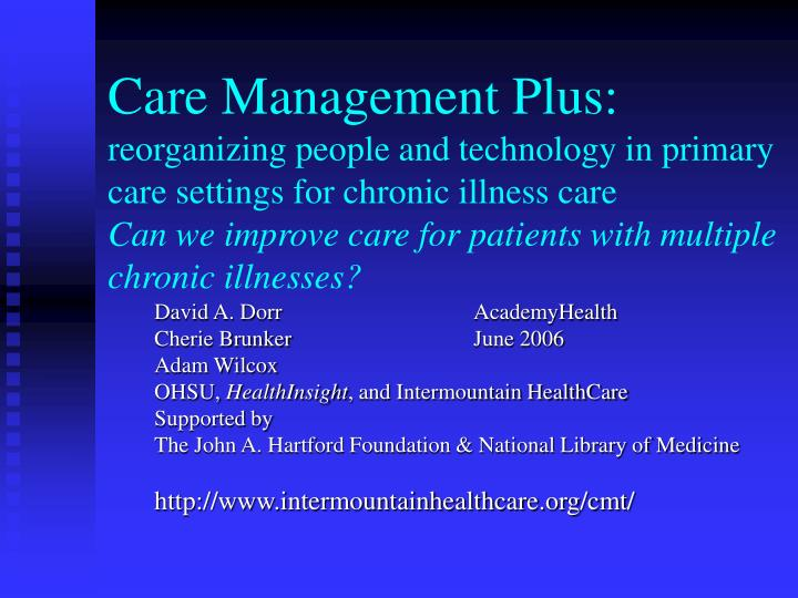 Care Management Plus: