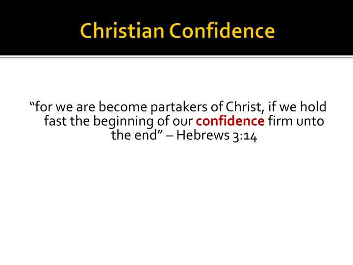 Christian Confidence