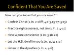 confident that you are saved1