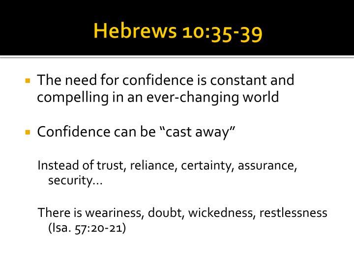 Hebrews 10:35-39