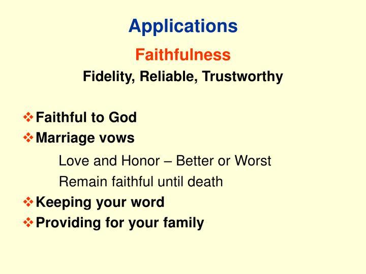 Applications