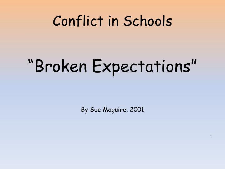 Conflict in Schools