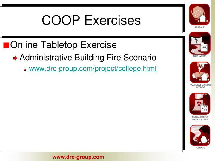 COOP Exercises