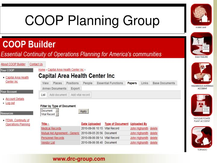 COOP Planning Group