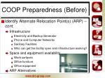 coop preparedness before11