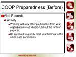 coop preparedness before8