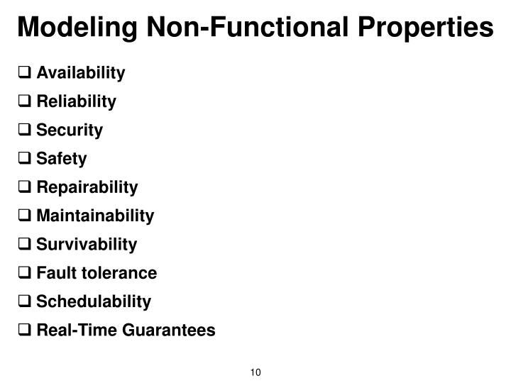 Modeling Non-Functional Properties
