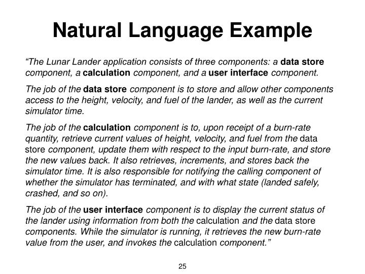 Natural Language Example