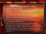 trips i mplications cont