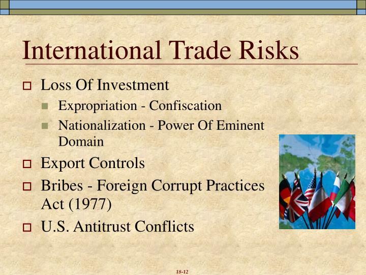 International Trade Risks