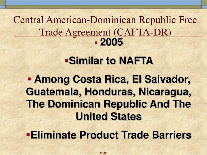 Central American-Dominican Republic Free Trade Agreement (CAFTA-DR)