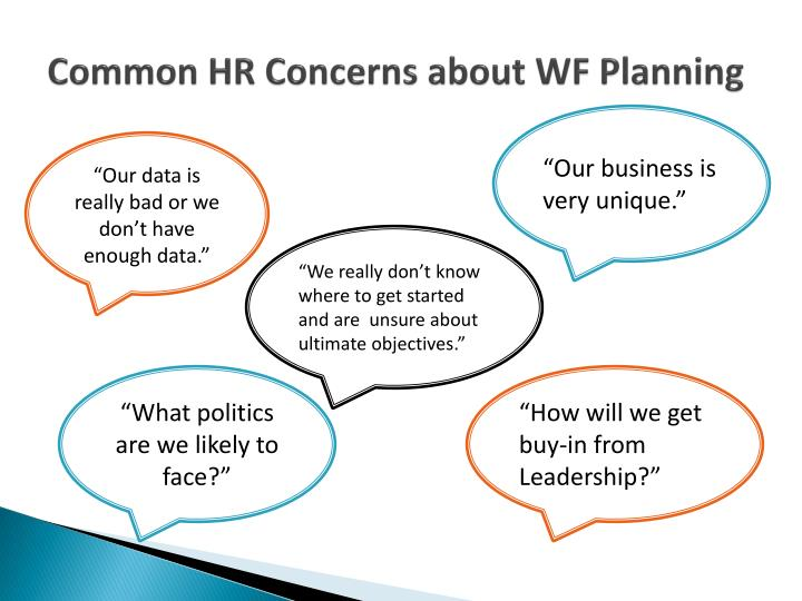Common HR Concerns about WF Planning