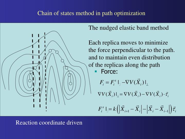 Chain of states method in path optimization