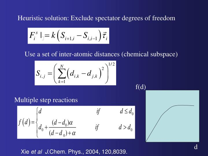 Heuristic solution: Exclude spectator degrees of freedom