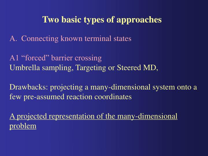 Two basic types of approaches