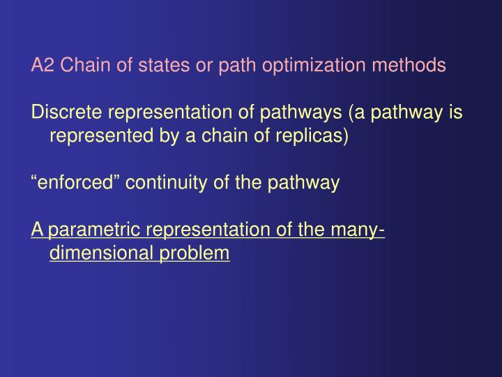 A2 Chain of states or path optimization methods