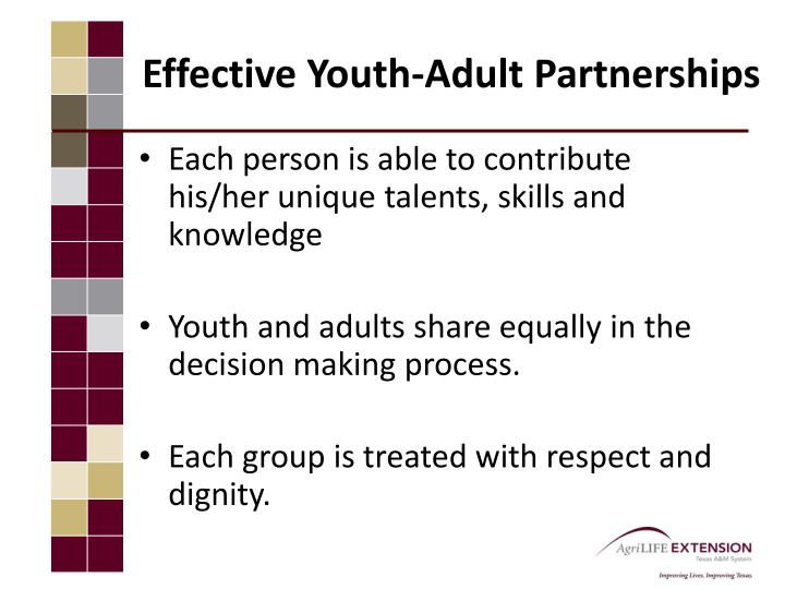 Effective Youth-Adult Partnerships