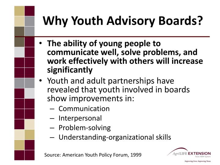 Why Youth Advisory Boards?