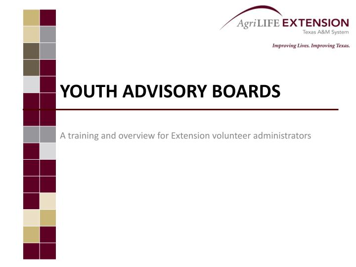 Youth ADVISORY Boards