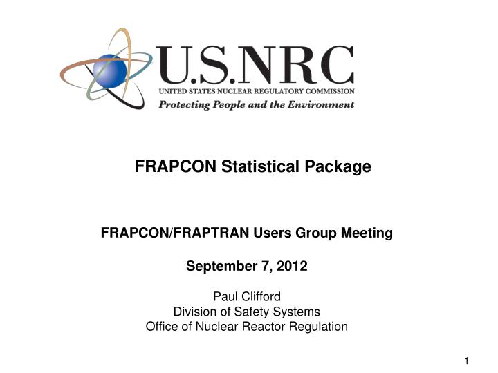 Frapcon statistical package