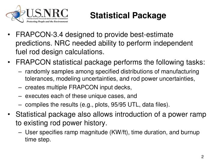 Statistical package