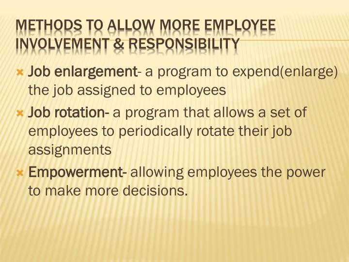Job enlargement