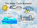 the water cycle answers