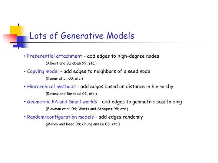Lots of Generative Models