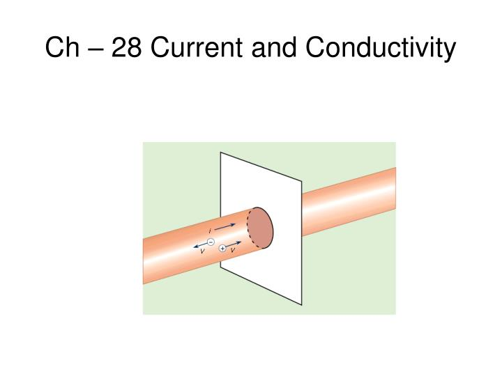 Ch 28 current and conductivity