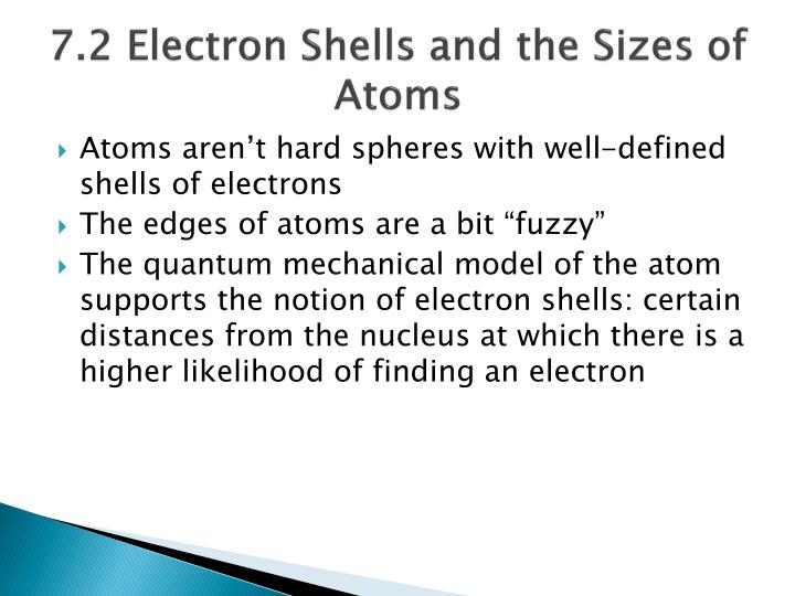 7 2 electron shells and the sizes of atoms