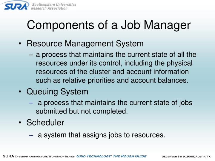 Components of a Job Manager