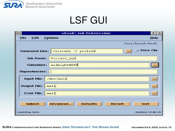 LSF GUI