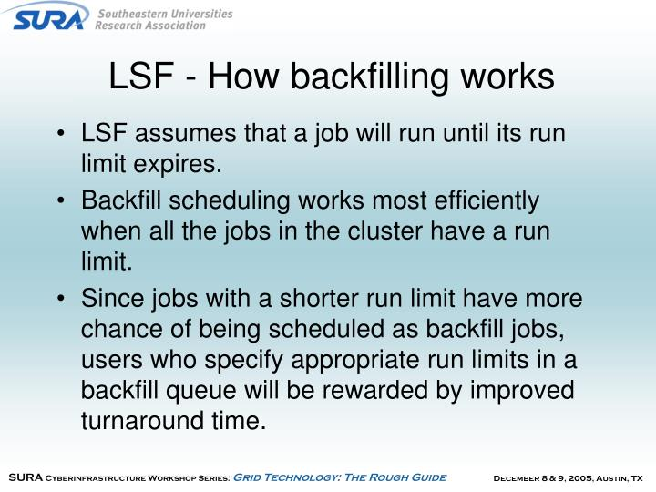 LSF - How backfilling works