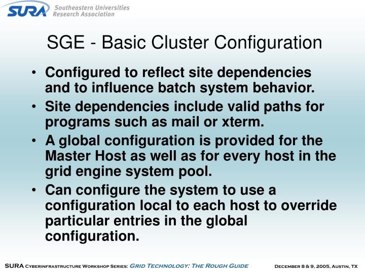 SGE - Basic Cluster Configuration