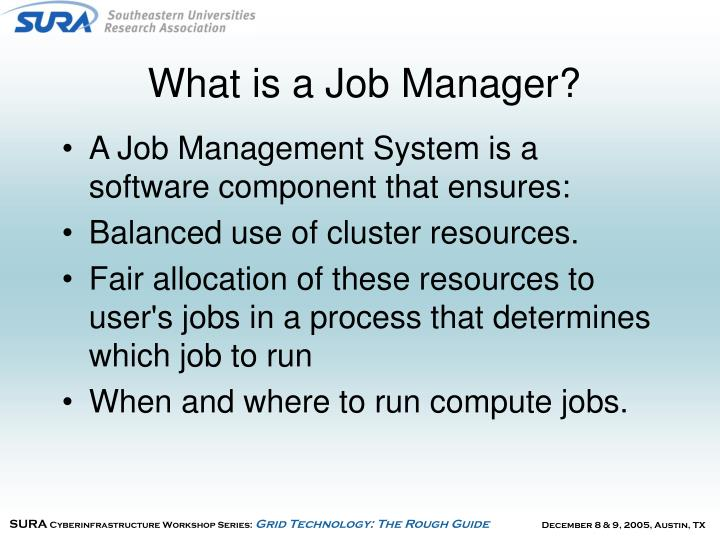 What is a job manager