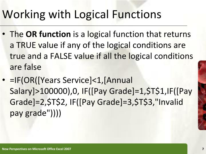 Working with Logical Functions
