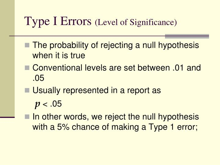 Type I Errors