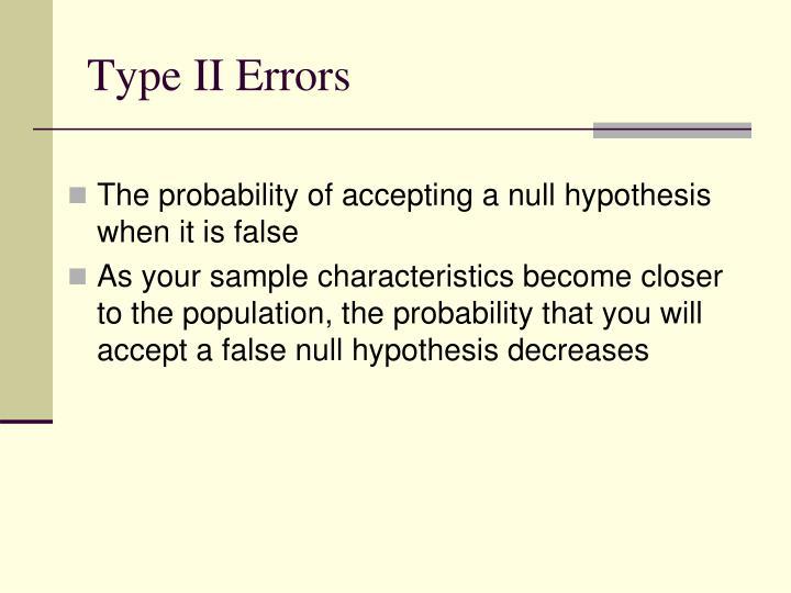 Type II Errors