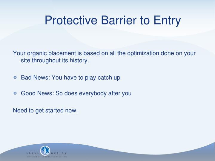 Your organic placement is based on all the optimization done on your site throughout its history.