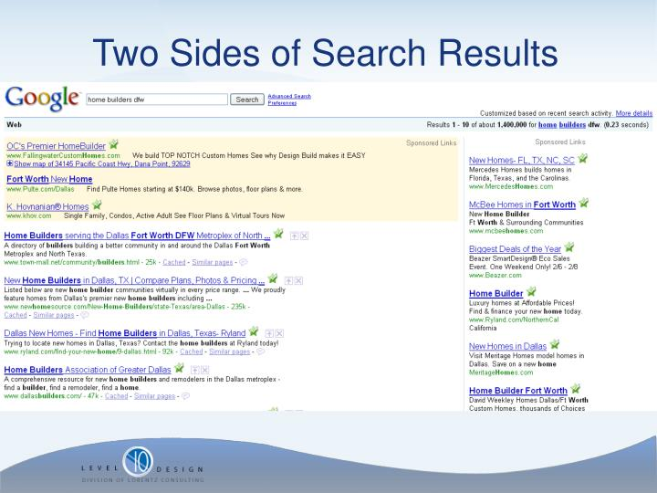 Two Sides of Search Results