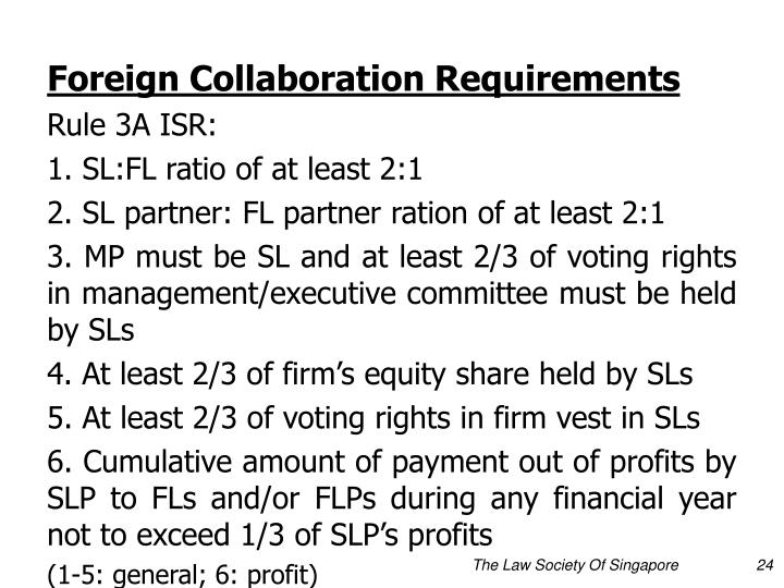 Foreign Collaboration Requirements